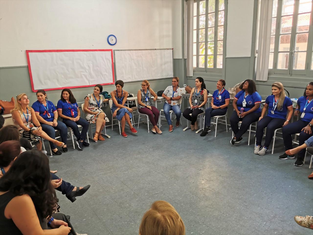 Dinâmica com profissionais da Educação Infantil e Ensino Fundamental I