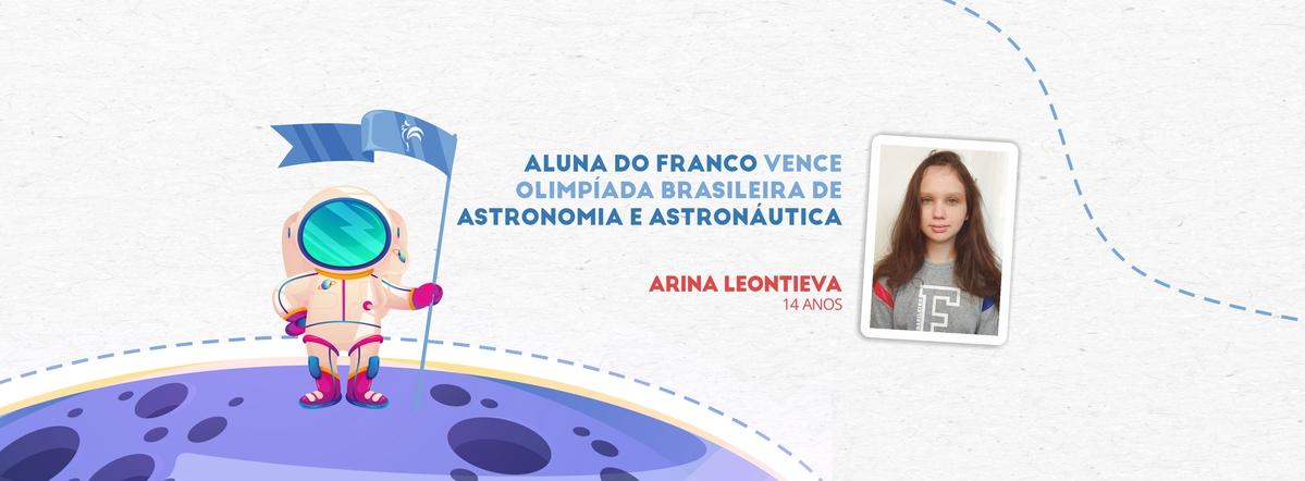 Aluna do Franco vence Olimpíada Brasileira de Astronomia e Astronáutica